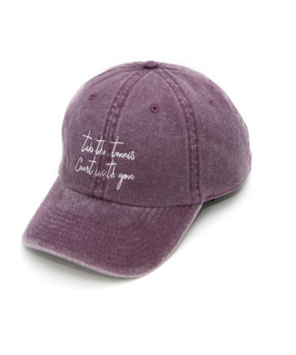 Tennis court cap